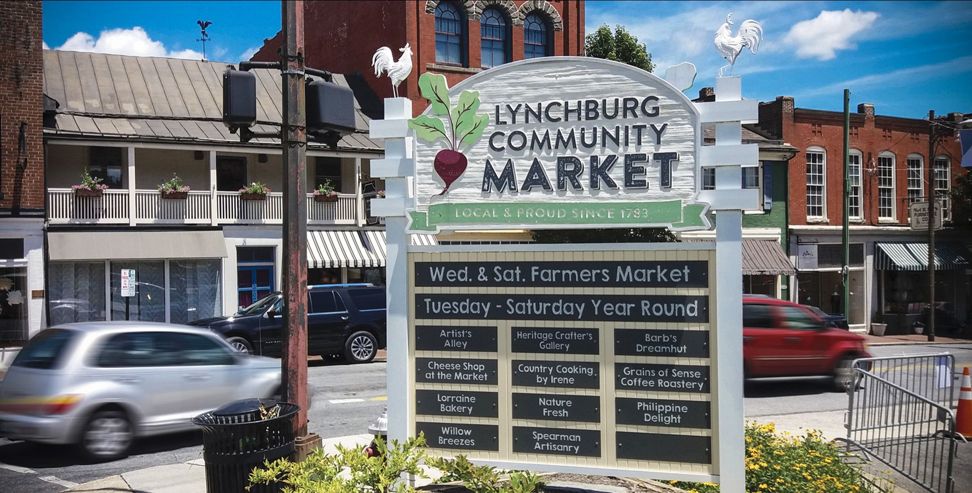 Lynchburg Community Market Virginia Signage McBride