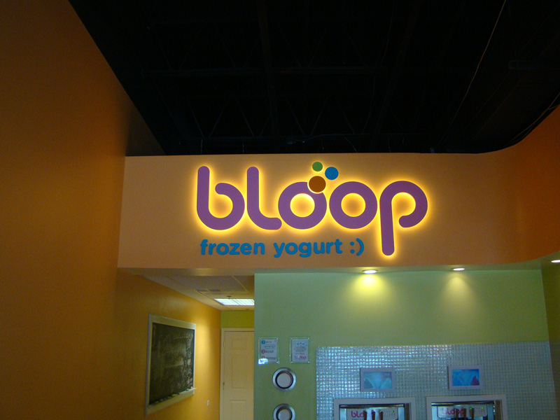 Bloop illuminated-sign lynchburg-va